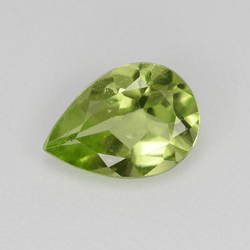 0.6ct Pear Facet Lively Green Peridot Gem (ID: 523482)