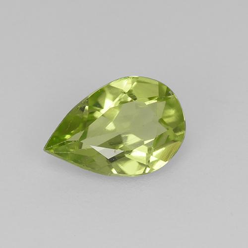 0.4ct Pear Facet Light Lively Green Peridot Gem (ID: 523484)