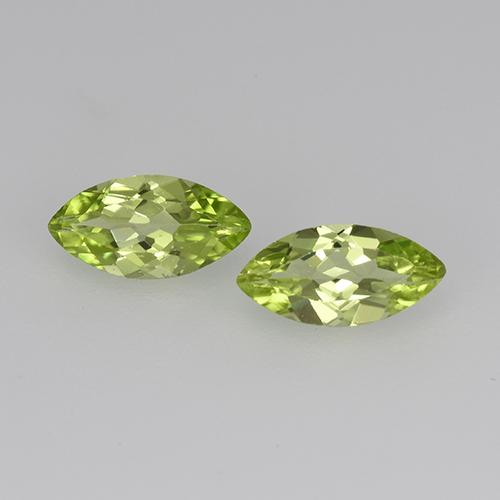 Lively Green Peridot Gem - 0.3ct Marquise Facet (ID: 524258)