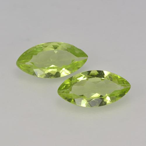 Light Green Peridot Gem - 0.4ct Marquise Facet (ID: 524260)