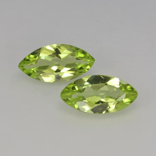 Medium Green Peridot Gem - 0.4ct Marquise Facet (ID: 524262)