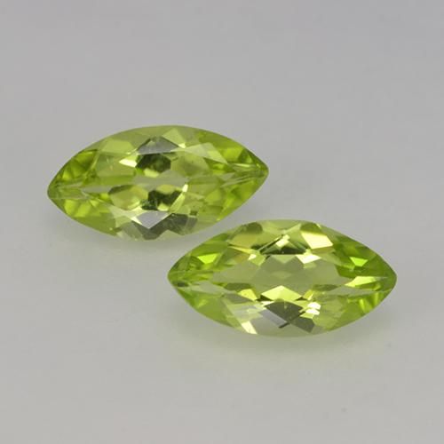 Lively Yellowish Green Peridoto Gema - 0.4ct Forma marquesa (ID: 524263)