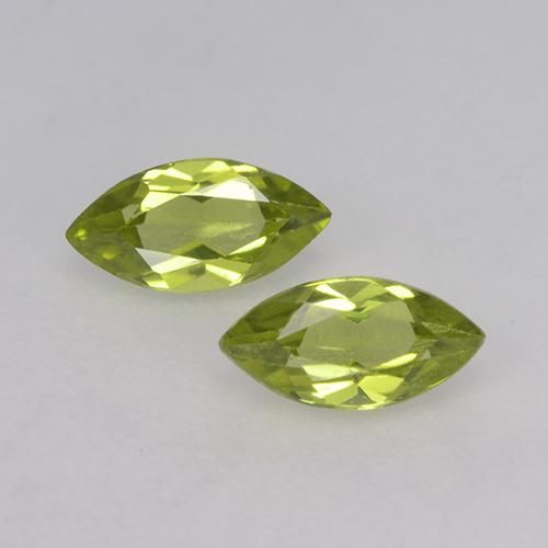 Lively Green Peridot Gem - 0.3ct Marquise Facet (ID: 524875)