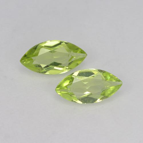 Medium Green Peridoto Gema - 0.2ct Forma marquesa (ID: 524876)