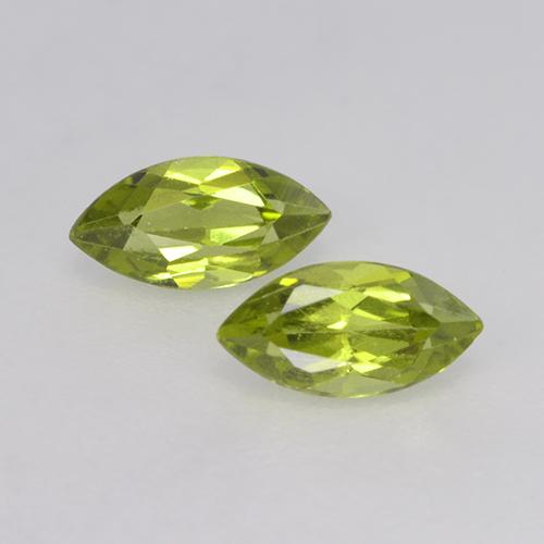 Lively Green Peridot Gem - 0.3ct Marquise Facet (ID: 524877)