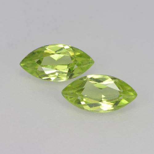 Lively Green Peridot Gem - 0.3ct Marquise Facet (ID: 524882)