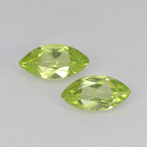 Lively Green Peridot Gem - 0.3ct Marquise Facet (ID: 524884)