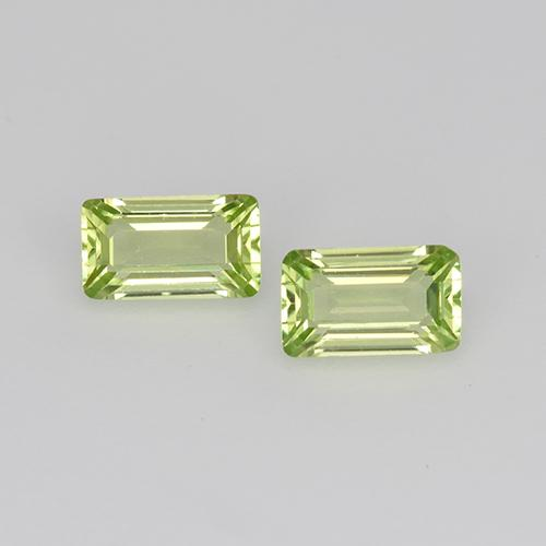Light Lively Green Peridoto Gema - 0.3ct Corte octagonal (ID: 525123)