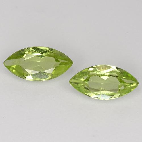 Lively Green Peridot Gem - 0.3ct Marquise Facet (ID: 525300)