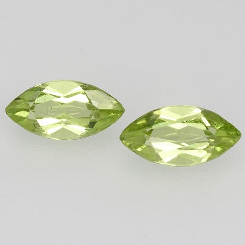 Lively Green Peridot Gem - 0.3ct Marquise Facet (ID: 525301)