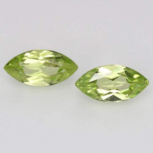 Light Lively Green Peridot Gem - 0.3ct Marquise Facet (ID: 525302)