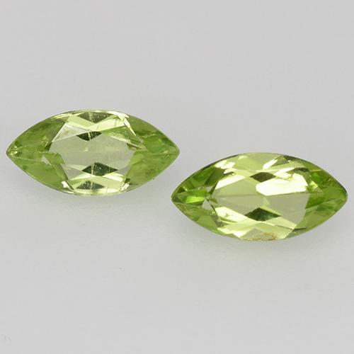 Lively Green Peridot Gem - 0.3ct Marquise Facet (ID: 525306)