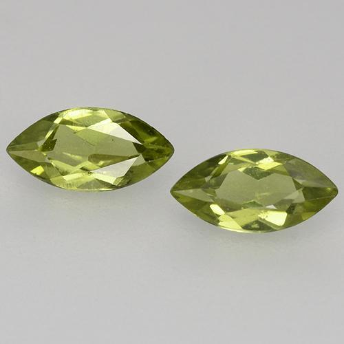 Olive Green Peridot Gem - 0.3ct Marquise Facet (ID: 525307)