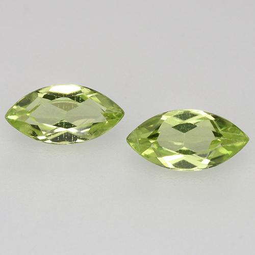 Lively Green Peridot Gem - 0.3ct Marquise Facet (ID: 525308)