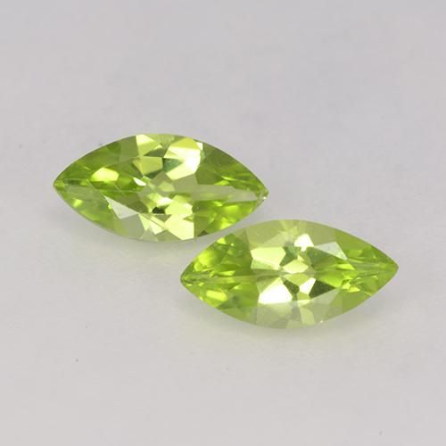 Lively Green Peridot Gem - 0.6ct Marquise Facet (ID: 525528)