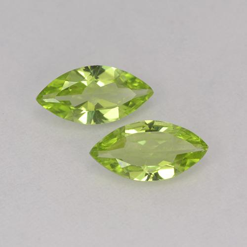 Lively Green Peridot Gem - 0.5ct Marquise Facet (ID: 525534)