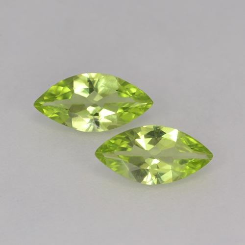 Medium Green Peridot Gem - 0.5ct Marquise Facet (ID: 525536)