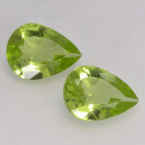 Medium Green Peridot Edelstein - 1ct Birnen Schliff (ID: 526133)