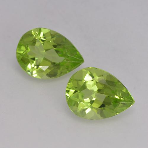 1ct Pear Facet Lively Green Peridot Gem (ID: 526136)
