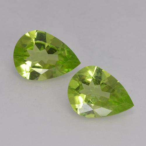 0.95 ct Pear Facet Lively Green Peridot Gemstone 8.06 mm x 6 mm (Product ID: 526138)