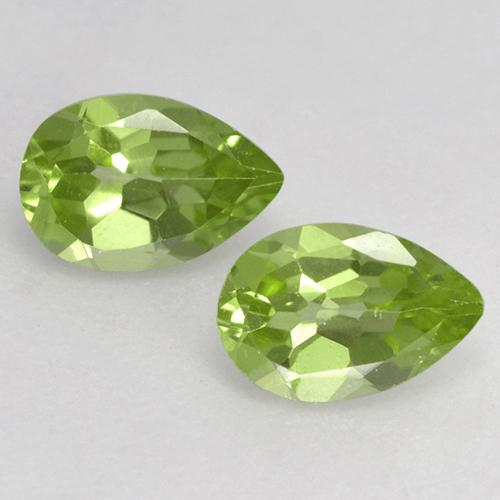 Light Lively Green Peridot Gem - 0.4ct Pear Facet (ID: 526645)