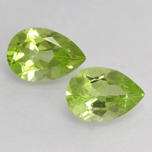Light Lively Green Peridot Gem - 0.5ct Pear Facet (ID: 526646)