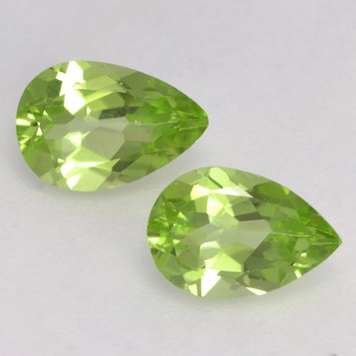 Lively Green Peridot Gem - 0.4ct Pear Facet (ID: 526651)