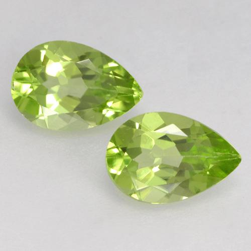0.5ct Pear Facet Lively Green Peridot Gem (ID: 526654)