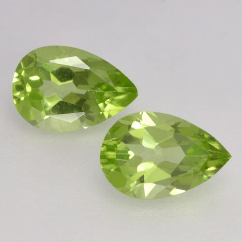 Lively Green Peridot Gem - 0.4ct Pear Facet (ID: 526655)