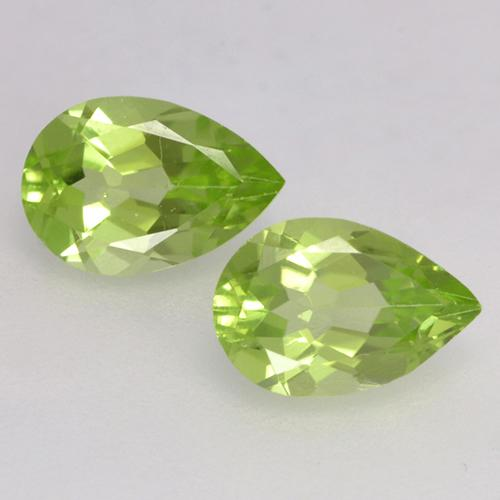 Lively Green Peridot Gem - 0.4ct Pear Facet (ID: 526656)