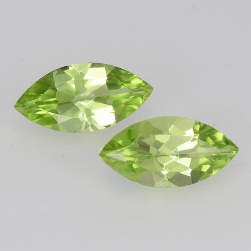 Lively Green Peridot Gem - 0.5ct Marquise Facet (ID: 526659)