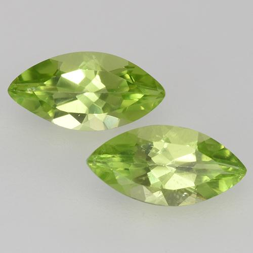 Lively Green Peridot Gem - 0.6ct Marquise Facet (ID: 526661)
