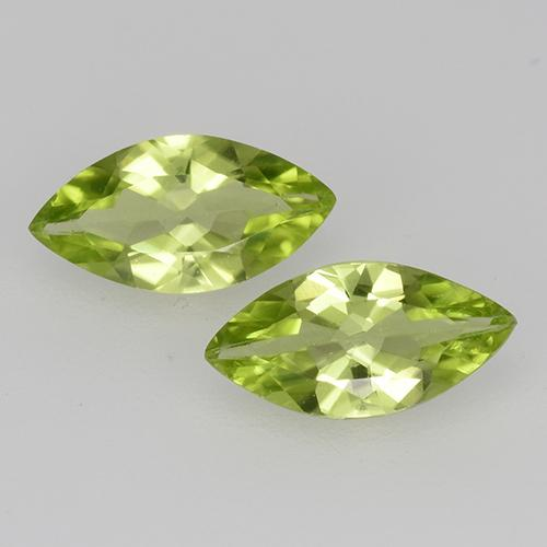Lively Green Peridot Gem - 0.5ct Marquise Facet (ID: 526663)