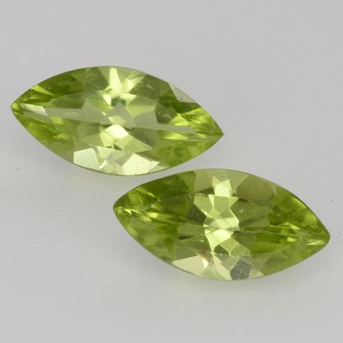 Lively Green Peridot Gem - 0.6ct Marquise Facet (ID: 526666)