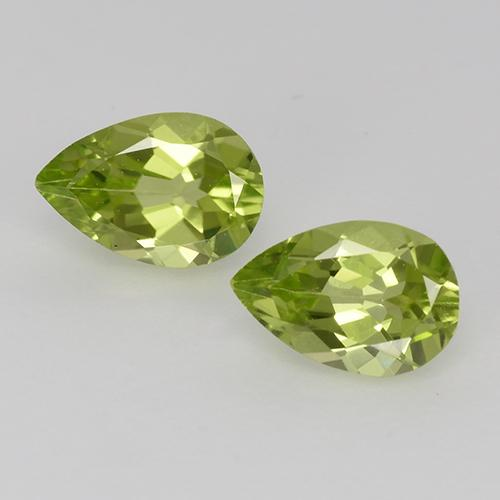 Light Lively Green Péridot gemme - 0.5ct Poire facette (ID: 526764)