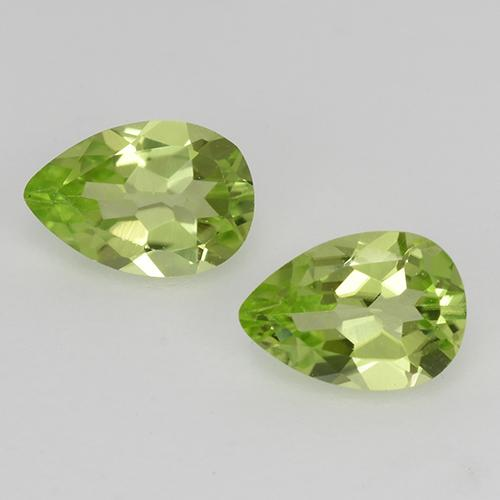 Light Lively Green Peridoto Gema - 0.4ct Corte en forma de pera (ID: 526767)