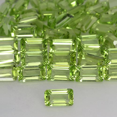 Light Lively Green Peridoto Gema - 0.3ct Forma octagonal (ID: 527301)