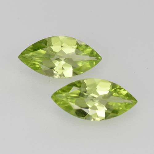 Lively Green Peridot Gem - 0.5ct Marquise Facet (ID: 527541)