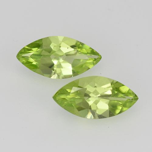 Lively Green Peridot Gem - 0.5ct Marquise Facet (ID: 527542)