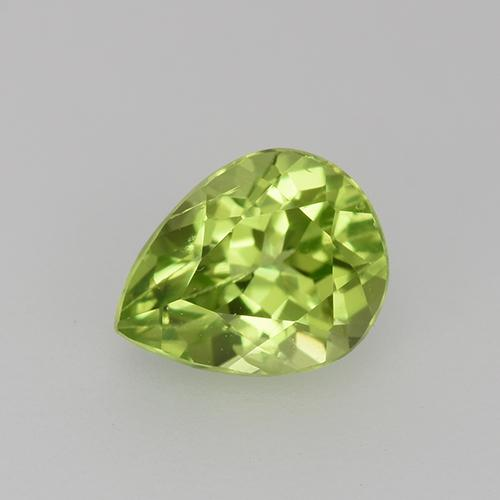 0.9ct Pear Facet Lively Green Peridot Gem (ID: 527548)