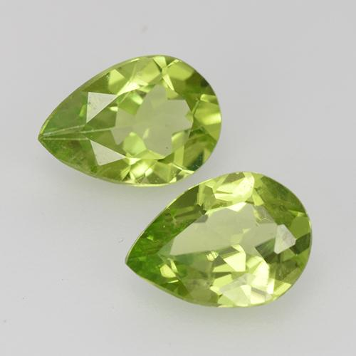 0.9ct Pear Facet Lively Green Peridot Gem (ID: 527550)