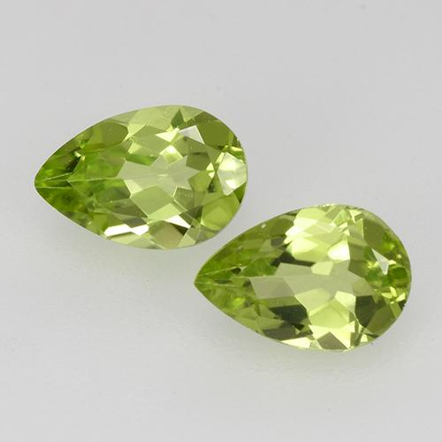 0.4ct Pear Facet Lively Green Peridot Gem (ID: 527847)