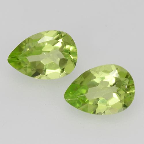 0.4ct Pear Facet Light Lively Green Peridot Gem (ID: 527849)