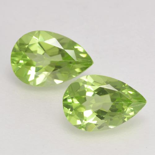 0.4ct Pear Facet Light Lively Green Peridot Gem (ID: 532376)