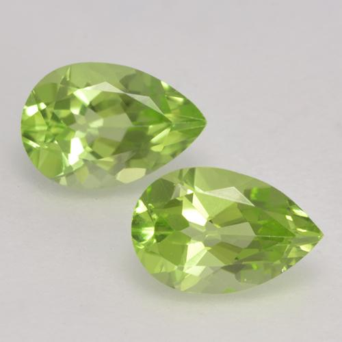 Light Lively Green Peridot Gem - 0.5ct Pear Facet (ID: 532377)
