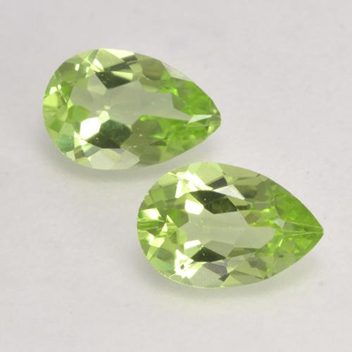 Light Lively Green Peridot Gem - 0.4ct Pear Facet (ID: 532379)