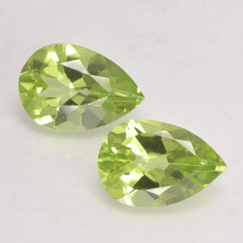 0.5ct Pear Facet Light Lively Green Peridot Gem (ID: 532380)