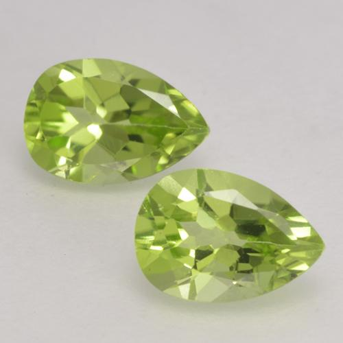 0.5ct Pear Facet Light Lively Green Peridot Gem (ID: 532383)