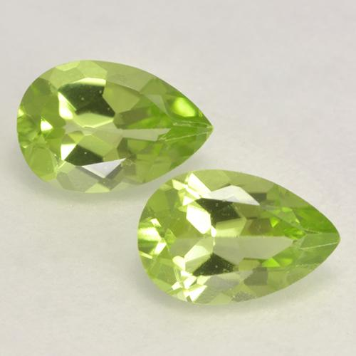0.4ct Pear Facet Light Lively Green Peridot Gem (ID: 532591)