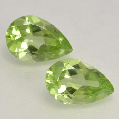 0.4ct Pear Facet Light Lively Green Peridot Gem (ID: 532592)
